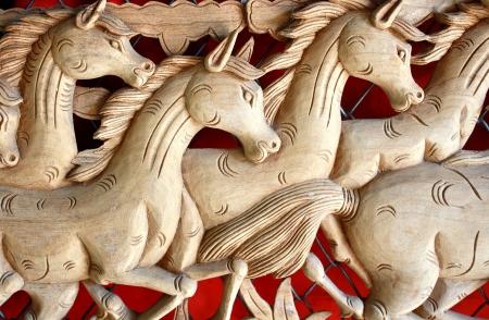 Tallado de madera como los caballos Foto de archivo - 16565720