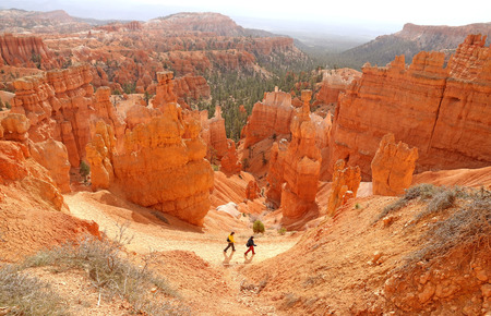 point of view: Sunrise point view Bryce Canyon National Park Utah USA