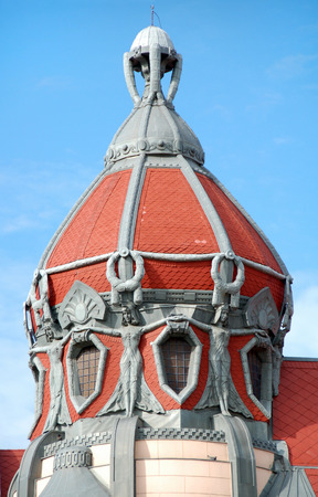 One of the beautiful roofs of old Szeged, Hungary. Stock Photo - 1518148