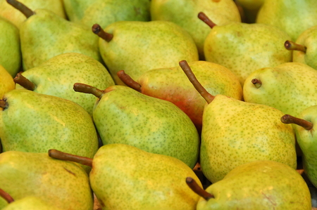 Ripe pears at the greengrocer at Budapest