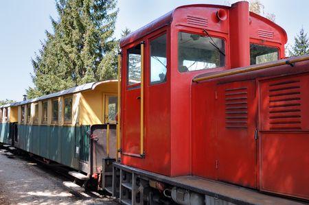 narrowgauge: Narrow-gauge railway at Szilvasvarad station going to Szalajka valley in Hungary. Szilvasvarad lies 32 kilometers North of Eger on the Western part of the Bukk Mountains.
