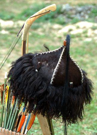 arc fleche: Arc, fl�che et un chapeau sans d�tail archer.