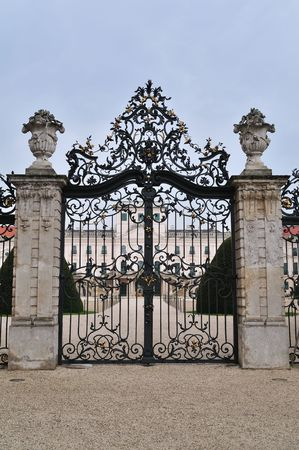 iron gate: Entrance gate of the Esterhazy Palace in Fertod.