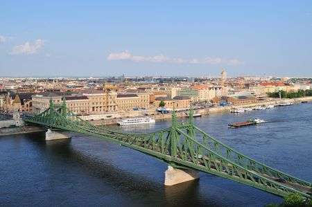 The liberty bridge in Budapest in Hungary. Stock Photo - 6902151