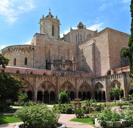 Tarragona Cathedral. One of most famous places of province. Catalonia, Spain.