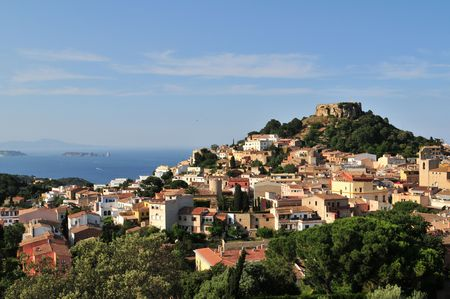 Begur with Castle, a typical Spanish town in Catalonia, Spain.