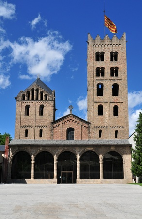 Monastery of Santa Maria de Ripoll (Catalonia, Spain).Founded in 879, is considered the cradle of the Catalan nation. Stock Photo - 9455393