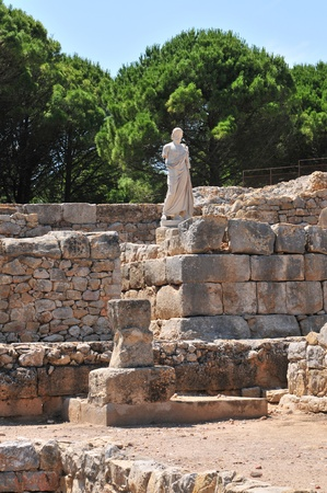 Empuries (Catalonia - Spain) - The ruins of the ancient Greek town, Emporion, founded in 550 BC.