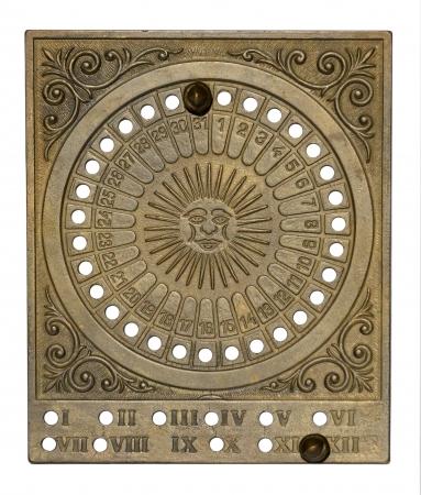 Calendario Antico.Fine Anno Calendario Antico Puo Usato Per Tutti Gli Anni