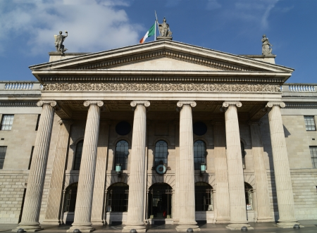 eire: General Post Office  GPO  facade in Dublin, Ireland