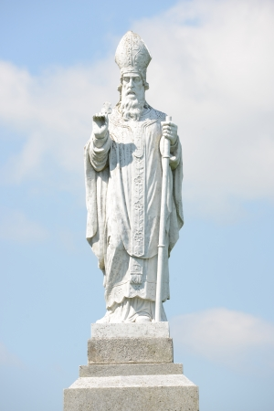 Saint Patrick statue at the hill of Tara in Ireland  photo