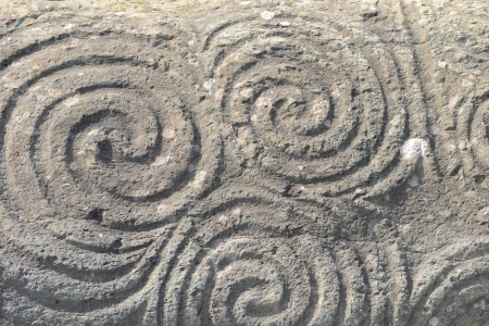 Rock detail with the famous pre-Celtic Triple Spiral