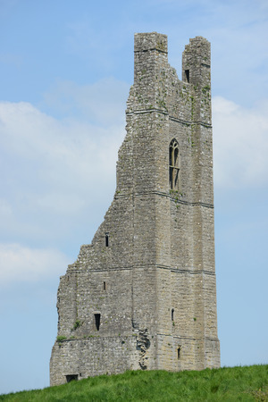 county meath: The Yellow Steeple of the Abbey of St  Mary, Trim, County Meath, Ireland  Stock Photo