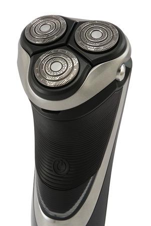 electric razor: Modern electric razor shaver isolated on white.