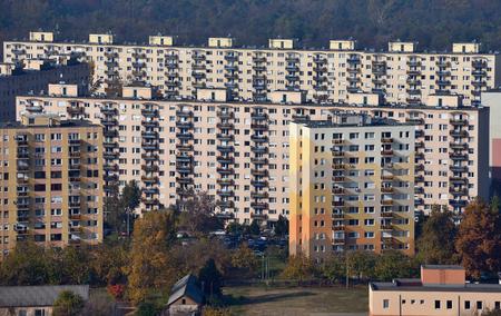 housing development: Housing development from a birds eye view in Budapest Hungary