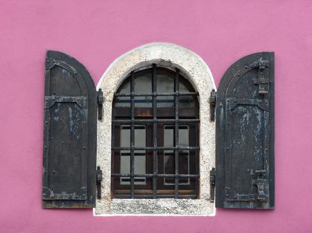 lattice window: Old lattice window in Mostar, Bosnia-Herzegovina.