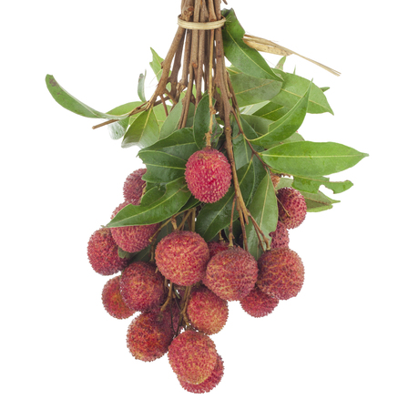 lychee isolated Stock Photo