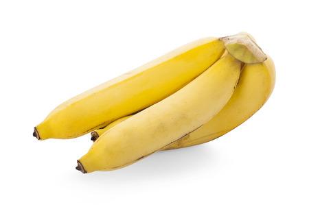 Banana fruit closeup isolated on white background Stock Photo