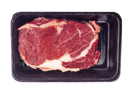 raw beef slice an isoalted  Stock Photo