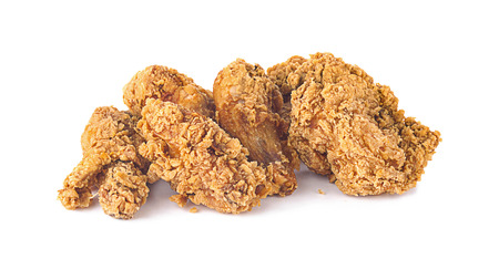 Fried chicken isolated white background Stock Photo