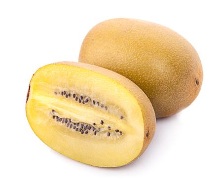 Yellow Flesh Kiwi Fruit Isolated