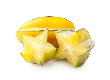 Star apple on white background Standard-Bild