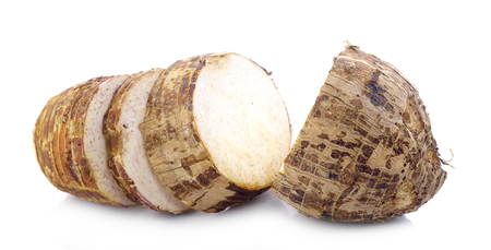 taro isolated on white background