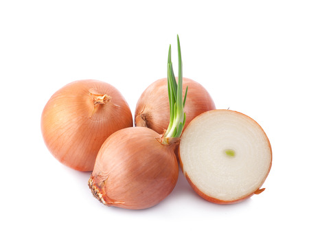 Onions isolated on white background Imagens
