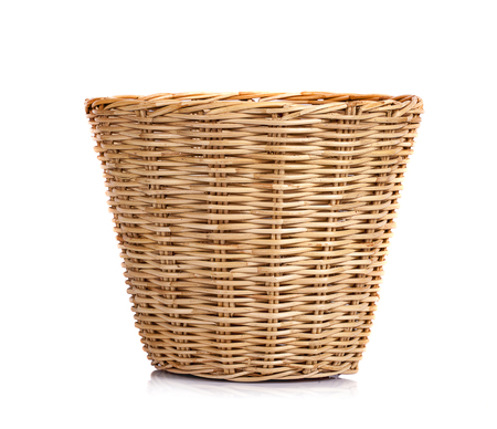 Basket wicker on isolated white background 写真素材