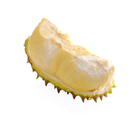 Durian fruit isolated on white background