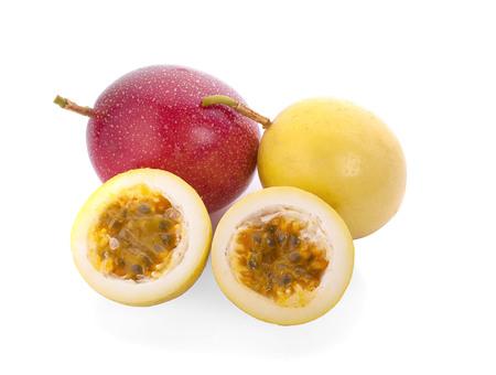 Passion fruit isolated on white background Stockfoto