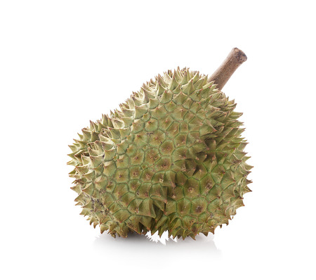 Durian on a white background, king of fruit from Thailand
