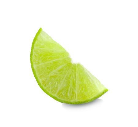 Juicy slice of lime isolated on white background Reklamní fotografie