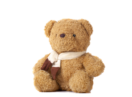 toy teddy bear isolated on white Stockfoto