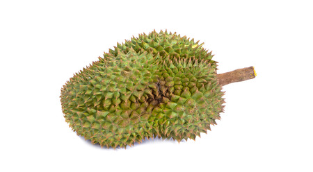mon thong durian is fruit plate tropical durian and king of fruits durian on white background healthy durian fruit food isolated 写真素材