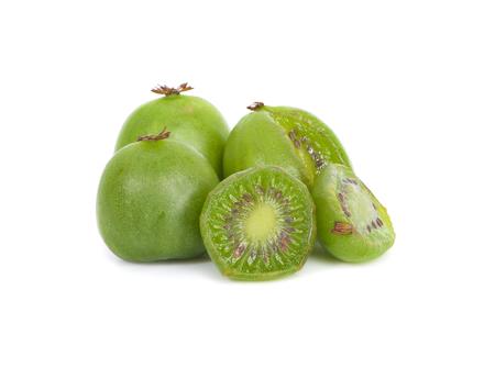 mini kiwi baby fruit on white background 版權商用圖片