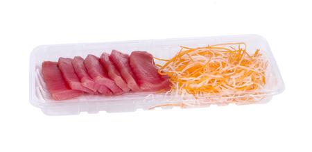 Tuna sashimi Raw sashimi an isolated