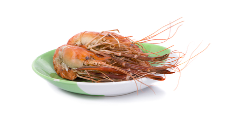 Roasted shrimp seafood an isolated 写真素材