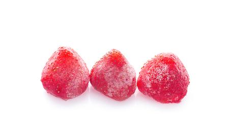 frozen strawberries background