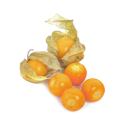 Cape gooseberry (physalis) isolated on white background 写真素材 - 125710531