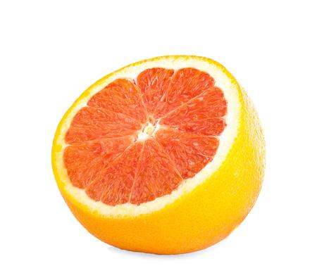 fresh orange isolated on white background 写真素材