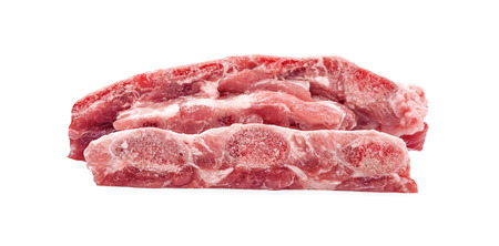 raw pork rib isolated on white 写真素材 - 125710576