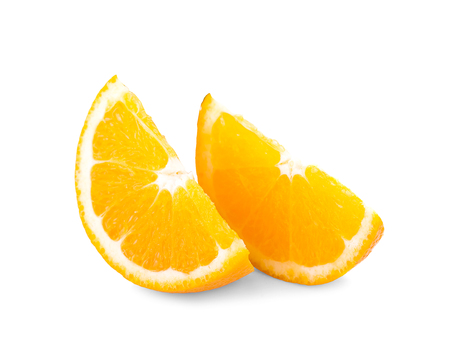 Orange fruit. Orang slice isolate on white. With clipping path. 写真素材