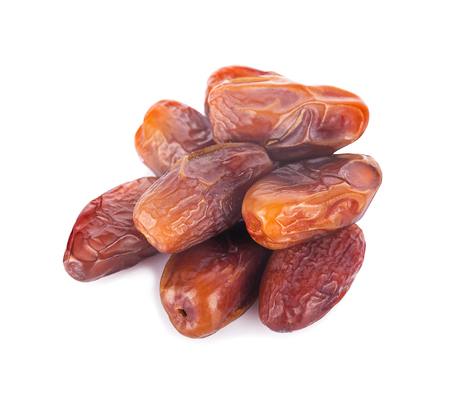 dried fruits from date palm isolated on white background 写真素材