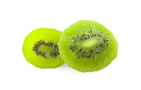Dried kiwi isolated on white background 写真素材