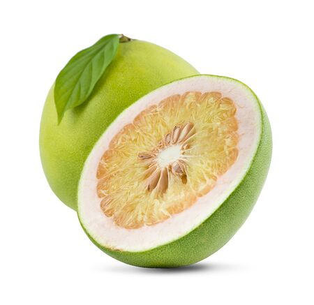 close-up view of Thailand pomelo isolated on white background  写真素材