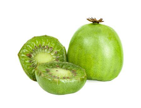 mini kiwi berry fruit isolated on white background