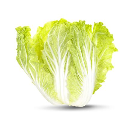 Fresh chinese cabbage on a white background clipping path