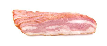 Bacon slice an ioslated on white background
