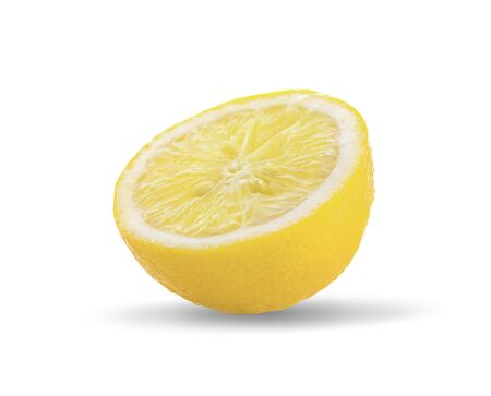 lemon fresh an isolated on white background 写真素材